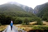 M&G hiking up to Devil's Punchbowl Falls. - Arthur's Pass